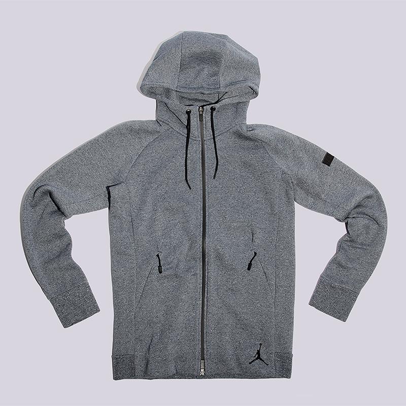 Толстовка Jordan Icon Fleece FZ HoodieТолстовки свитера<br>60% хлопок, 40% полиэстер<br><br>Цвет: Синий<br>Размеры US: S<br>Пол: Мужской