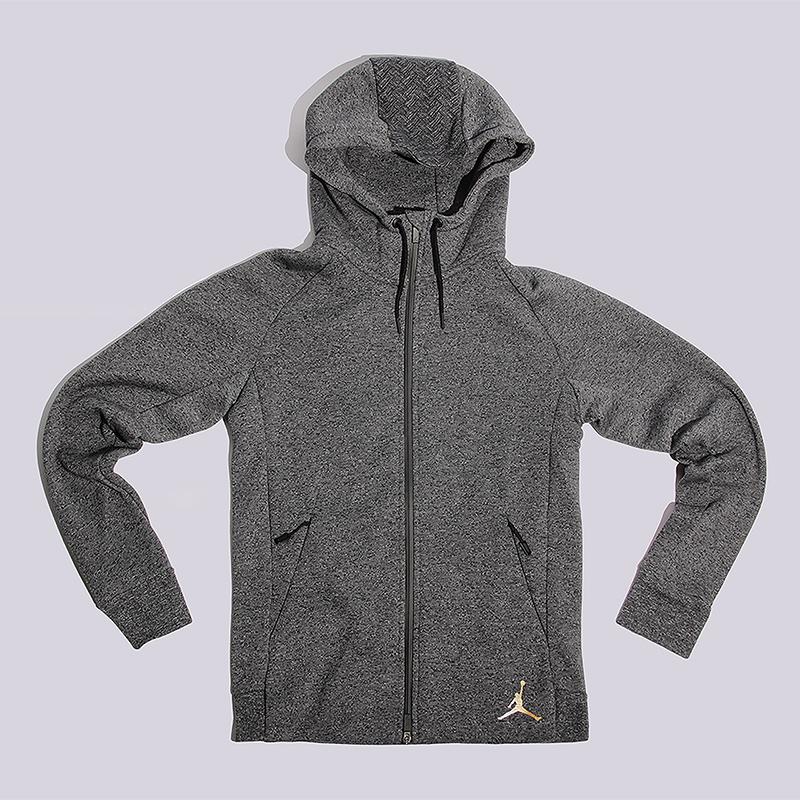 Толстовка Jordan CNY FZ Icon FZ HoodieТолстовки свитера<br>60% хлопок, 40% полиэстер<br><br>Цвет: Серый<br>Размеры US: S;M;L;XL;2XL<br>Пол: Мужской