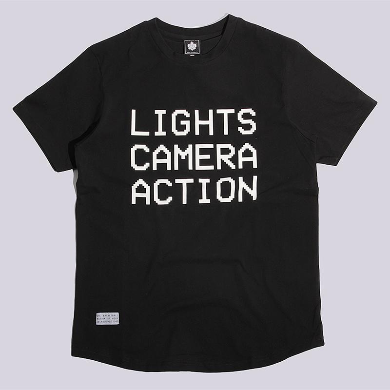 Футболка K1X Lights Camera Action TeeФутболки<br>100% хлопок<br><br>Цвет: Черный<br>Размеры US: S;M<br>Пол: Мужской