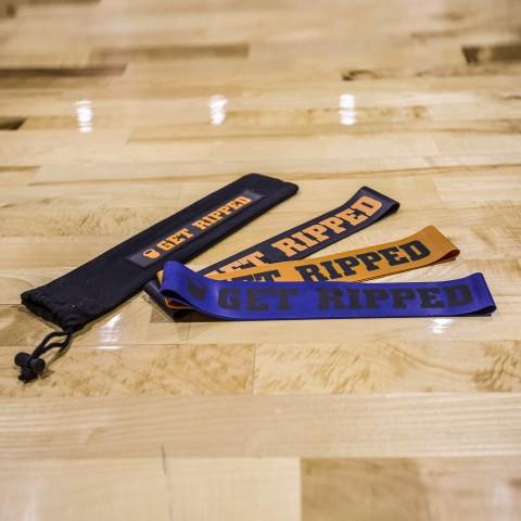 синие, оранжевые, чёрные  тренажеры get ripped gr 3 types of resistent bands GR-031-16 - цена, описание, фото 1