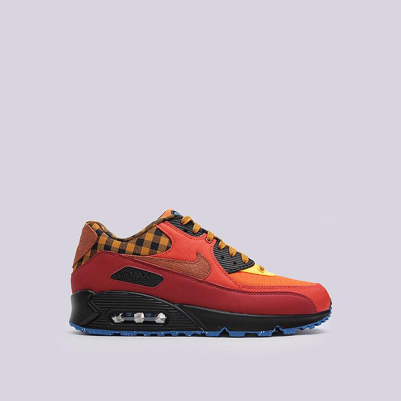 Кроссовки Nike Sportswear Air Max 90 PremiumКроссовки lifestyle<br>Текстиль, синтетика, текстиль, резина<br><br>Цвет: Красный<br>Размеры US: 9;14<br>Пол: Мужской