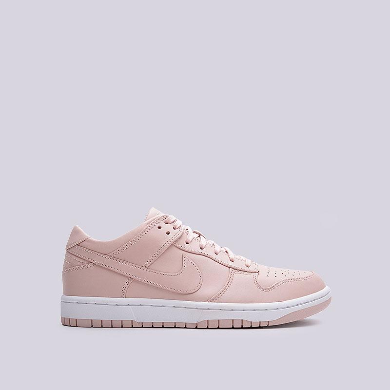 Кроссовки Nike Lab Dunk Lux LowКроссовки lifestyle<br>Кожа, текстиль, резина<br><br>Цвет: Розовый<br>Размеры US: 8.5;10.5<br>Пол: Мужской