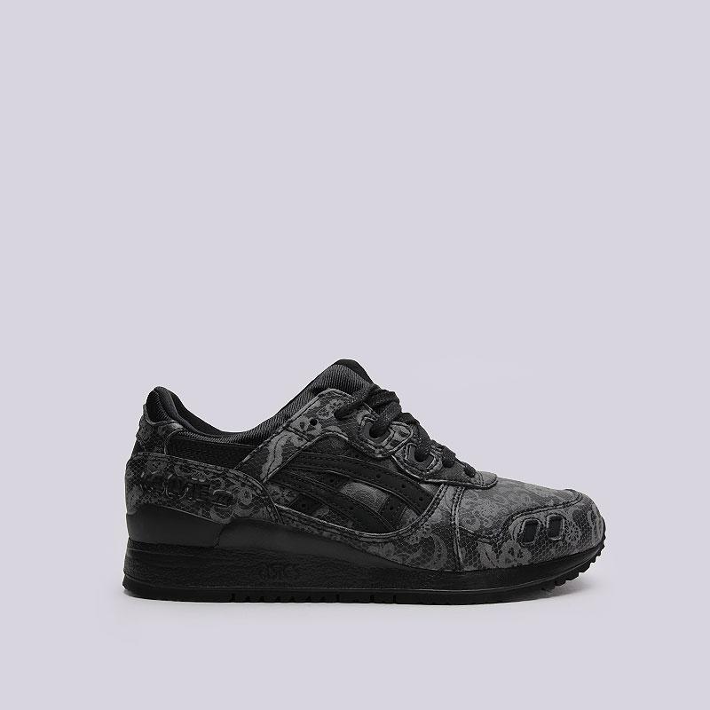 2cf755cc женские чёрные кроссовки asics tiger gel-lyte iii H7S5L-9090 - цена,  описание