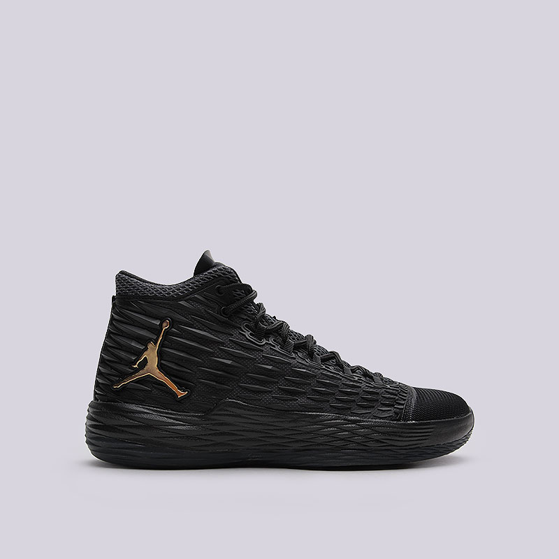 Кроссовки Jordan Melo M13Кроссовки баскетбольные<br>Текстиль, пластик, резина<br><br>Цвет: Чёрный<br>Размеры US: 8.5;9;11.5;12<br>Пол: Мужской