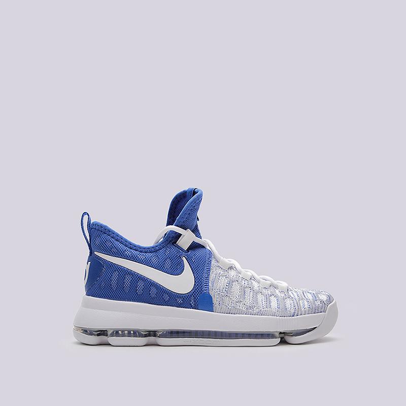 Кроссовки Nike Zoom KD 9Кроссовки баскетбольные<br>текстиль, резина<br><br>Цвет: Белый<br>Размеры US: 7;8;8.5;9;9.5;10;10.5;11;11.5;12;13;13.5;14<br>Пол: Мужской