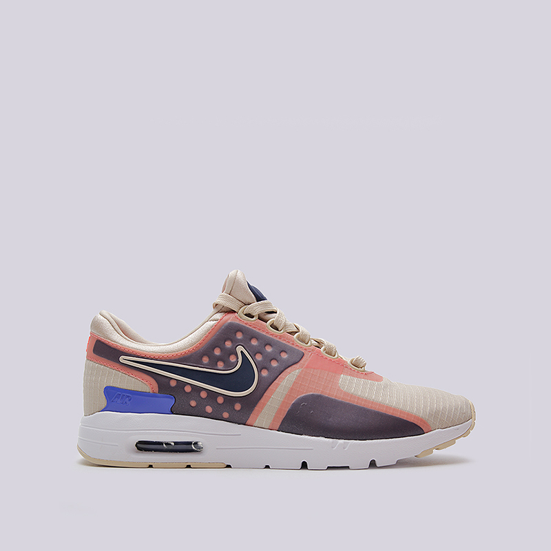 Кроссовки Nike WMNS Air Max Zero SIКроссовки lifestyle<br>текстиль, резина<br><br>Цвет: Бежевый, розовый<br>Размеры US: 6;7;8<br>Пол: Женский