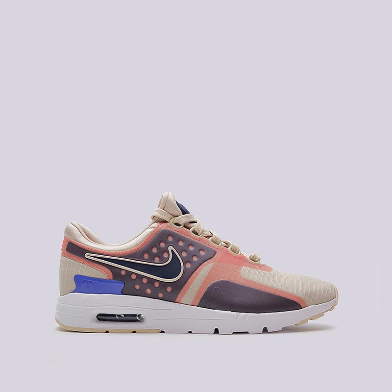 Кроссовки Nike Sportswear WMNS Air Max Zero SIКроссовки lifestyle<br>текстиль, резина<br><br>Цвет: Бежевый, розовый<br>Размеры US: 6;6.5;7;7.5;8;8.5<br>Пол: Женский