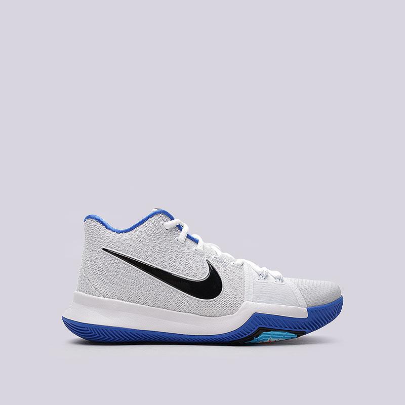 Кроссовки  Nike Kyrie 3Кроссовки баскетбольные<br>Текстиль, пластик, резина<br><br>Цвет: Белый<br>Размеры US: 8;8.5;10.5;11.5<br>Пол: Мужской