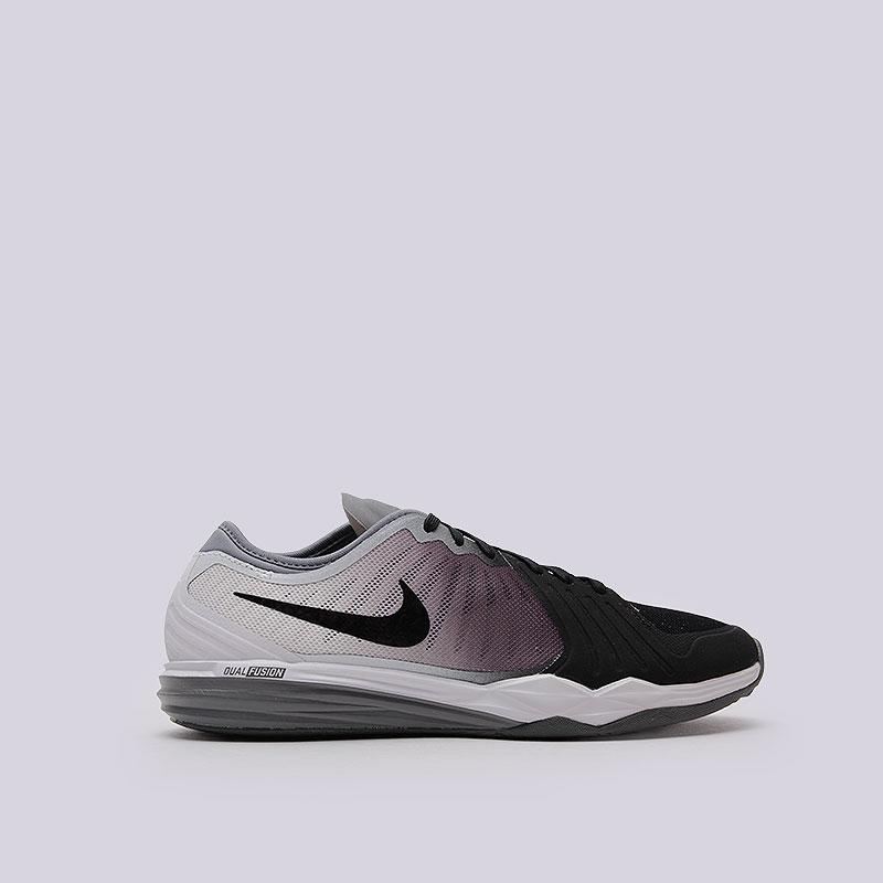 Кроссовки Nike WMNS Dual Fusion TR 4 PrintКроссовки lifestyle<br>Пластик, текстиль, резина<br><br>Цвет: Чёрный<br>Размеры US: 6;7;9<br>Пол: Женский