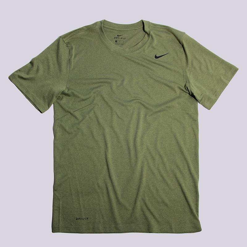 Футболка Nike M NK Dry Tee LGD 2.0Футболки<br>100% полиэстер<br><br>Цвет: Зеленый<br>Размеры US: S;M<br>Пол: Мужской