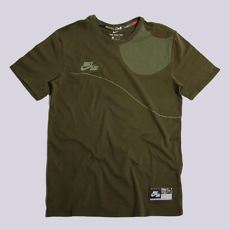 Футболка Nike Sportswear Air TeeФутболки<br>100% хлопок<br><br>Цвет: Зелеый<br>Размеры US: S;M<br>Пол: Мужской