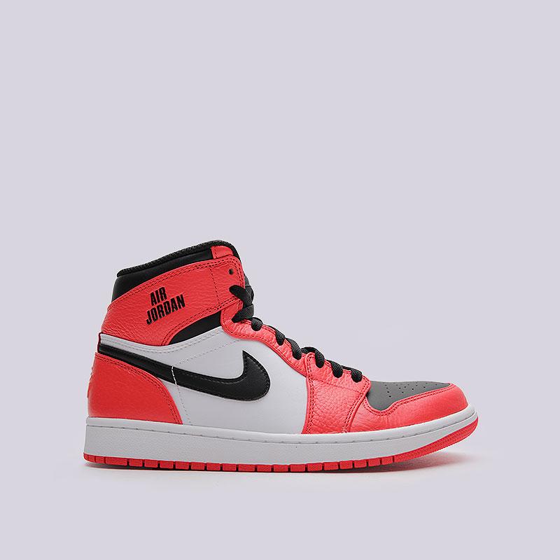 Кроссовки Air Jordan 1 Retro HighКроссовки lifestyle<br>Кожа, синтетика, текстиль, резина<br><br>Цвет: Красный<br>Размеры US: 12<br>Пол: Мужской