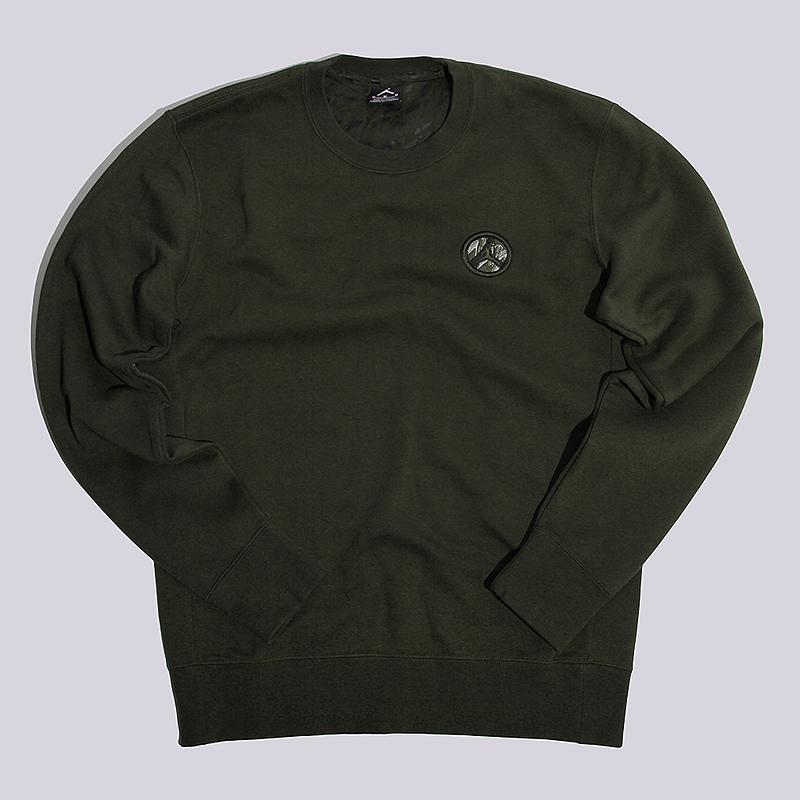 Толстовка Jordan AJ 8 Fleece CrewФутболки<br>76% хлопок, 24% полиэстер<br><br>Цвет: Зеленый<br>Размеры US: S;M;L;XL;2XL<br>Пол: Мужской