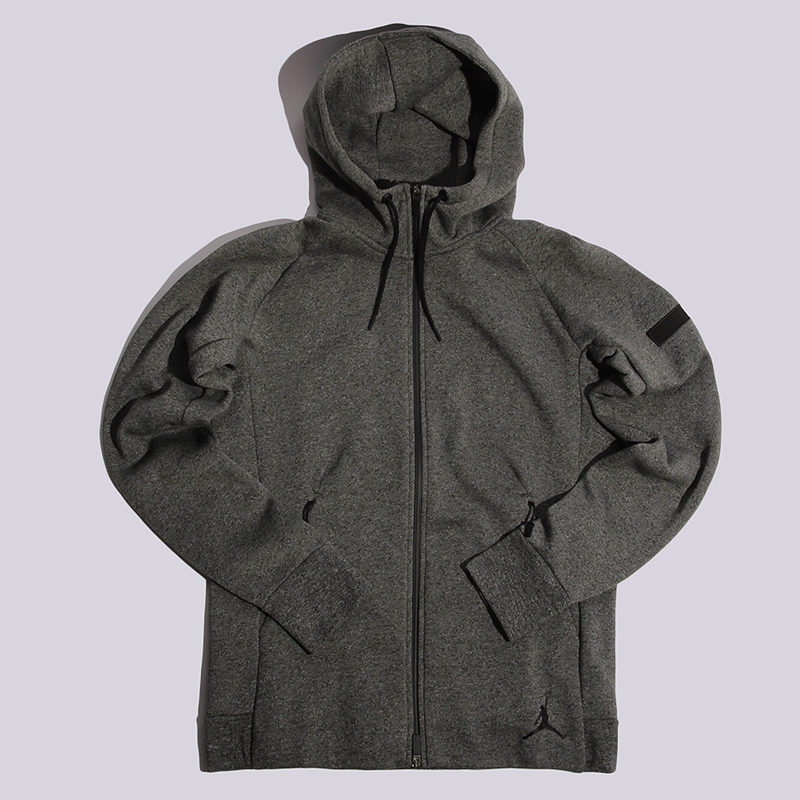 Толстовка Jordan Icon Fleece CZ HoodieТолстовки свитера<br>60% хлопок, 40% полистер<br><br>Цвет: Серый<br>Размеры US: M;2XL<br>Пол: Мужской