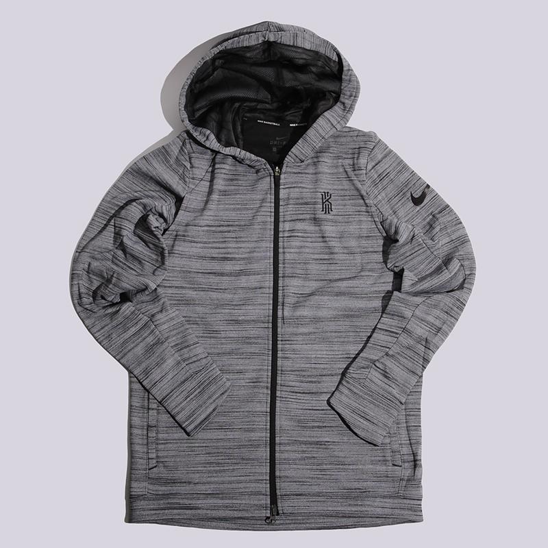 Толстовка Nike Kyrie M NK THRMA JKT HDТолстовки свитера<br>100% полиэстер<br><br>Цвет: Серый<br>Размеры US: M;L;XL;2XL<br>Пол: Мужской