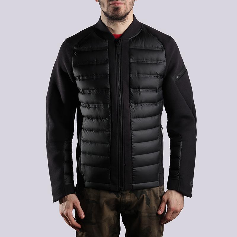 Куртка Nike Sportswear M NSW TCH FLC BMBR ARLFTКуртки, пуховики<br>хлопок, полиэстер<br><br>Цвет: Черный<br>Размеры US: S;M;L;XL<br>Пол: Мужской