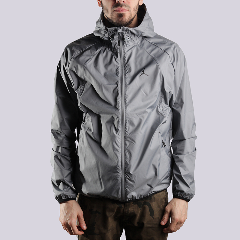 Куртка Jordan JSW Wings WindbreakerКуртки, пуховики<br>полиэстер<br><br>Цвет: Серый<br>Размеры US: M;L<br>Пол: Мужской
