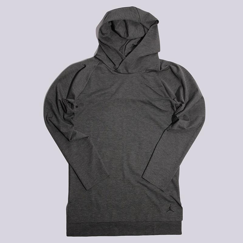Лонгслив Jordan 23 LUX L/S Hooded Raglan TopФутболки<br>71% полиэстер, 24% хлопок, 5% спандекс<br><br>Цвет: Серый<br>Размеры US: S;M;L<br>Пол: Мужской