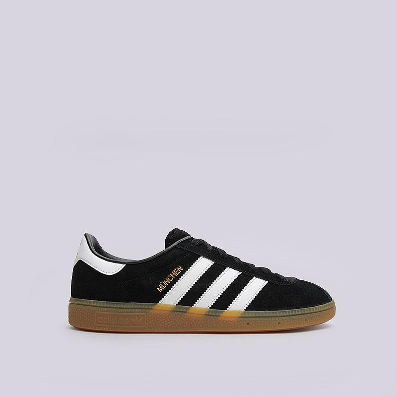 Кроссовки  adidas Originals MunchenКроссовки lifestyle<br>Кожа, текстиль, резина<br><br>Цвет: Чёрный<br>Размеры UK: 7;8;8.5;10;10.5;11;11.5<br>Пол: Мужской