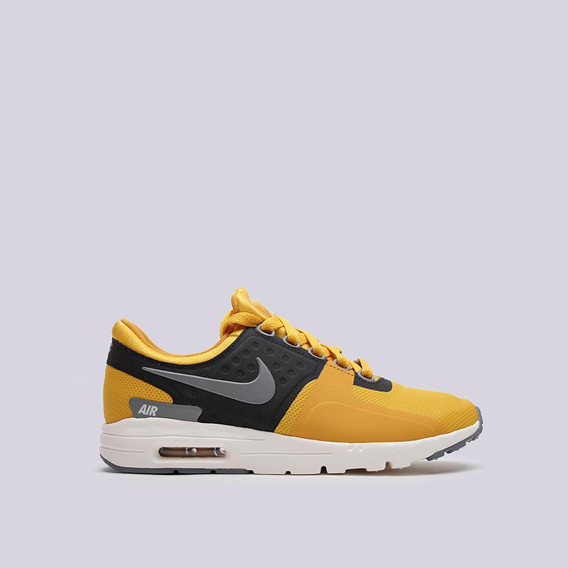 Кроссовки Nike WMNS Air Max ZeroКроссовки lifestyle<br>текстиль, резина<br><br>Цвет: Желтый<br>Размеры US: 6<br>Пол: Женский