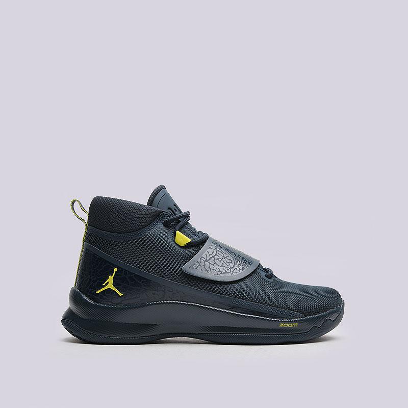 Кроссовки  Jordan Super.Fly 5 POКроссовки баскетбольные<br>Текстиль, синтетика, резина, пластик<br><br>Цвет: Синий<br>Размеры US: 8;8.5;9;9.5;10;10.5;11;11.5;12;12.5;13<br>Пол: Мужской