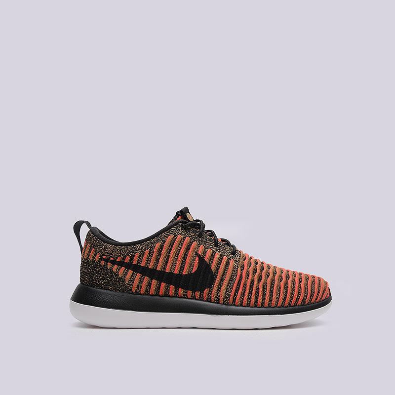 Кроссовки  Nike Sportswear Roshe Two FlyknitКроссовки lifestyle<br>Текстиль, пластик<br><br>Цвет: Чёрный<br>Размеры US: 8;8.5;9;9.5;10;10.5;11;11.5;12<br>Пол: Мужской
