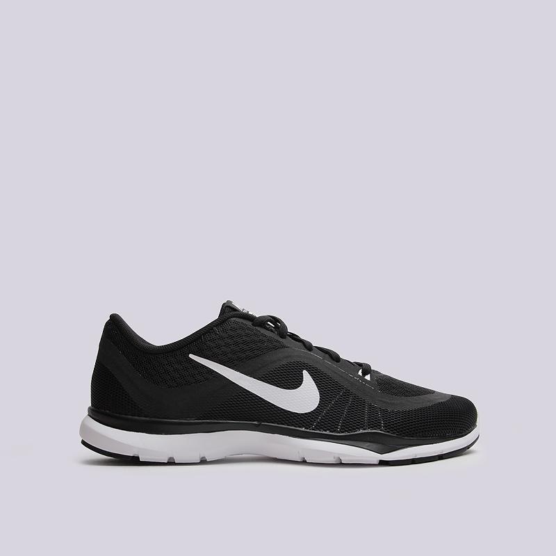 Кроссовки Nike WMNS Flex Trainer 6Обувь<br>пластик, текстиль, резина<br><br>Цвет: Черный<br>Размеры US: 8<br>Пол: Женский