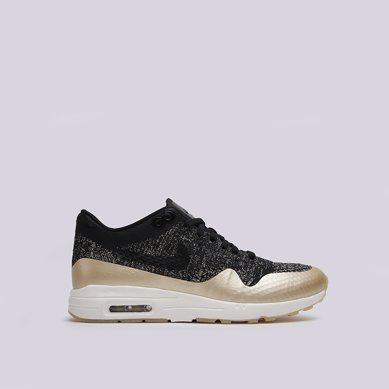 Кроссовки Nike WMNS Air Max 1 Ultra FK MTLCКроссовки lifestyle<br>текстиль, пластик, резина<br><br>Цвет: Черный<br>Размеры US: 7<br>Пол: Женский