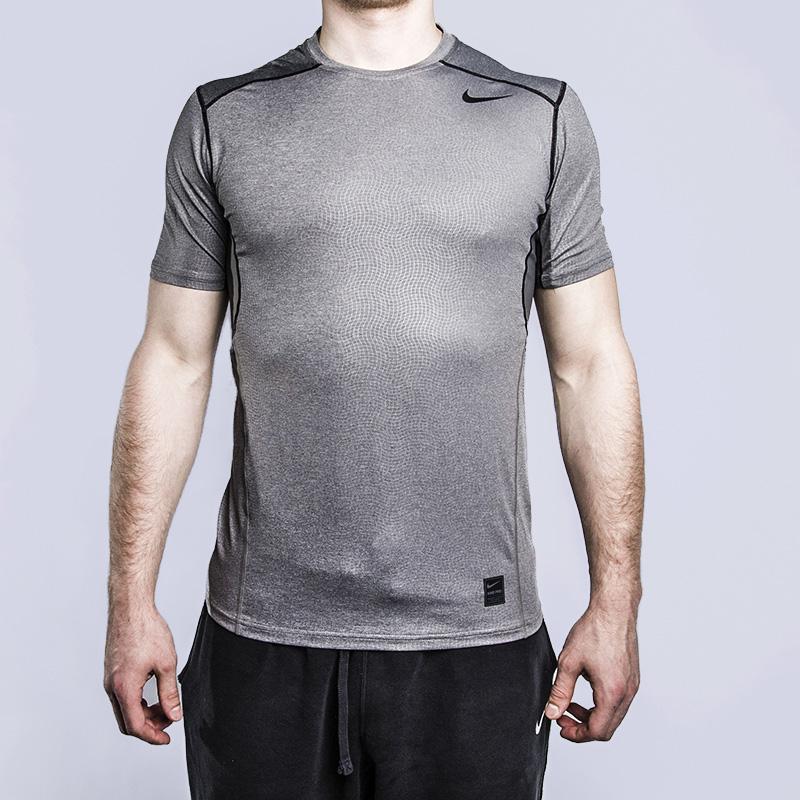 Футболка для тренинга Nike Hypercool FTTD SS TopФутболки<br>93% полиэстер, 7% эластан<br><br>Цвет: Серый<br>Размеры US: S;M;L;XL<br>Пол: Мужской