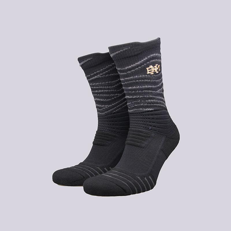 Носки Nike BHM Elite Versatility CrewНоски<br>Нейлон, полиэстер, хлопок, эластан<br><br>Цвет: Чёрный<br>Размеры US: L<br>Пол: Мужской