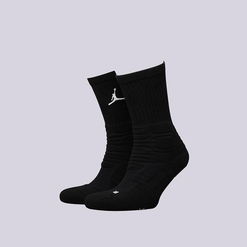 Носки Jordan Ultimate Flight Crew SockНоски<br>51% полиэстер, 29% нейлон, 13% хлопок,, 7% эластан<br><br>Цвет: Черный<br>Размеры US: M;L;XL<br>Пол: Мужской