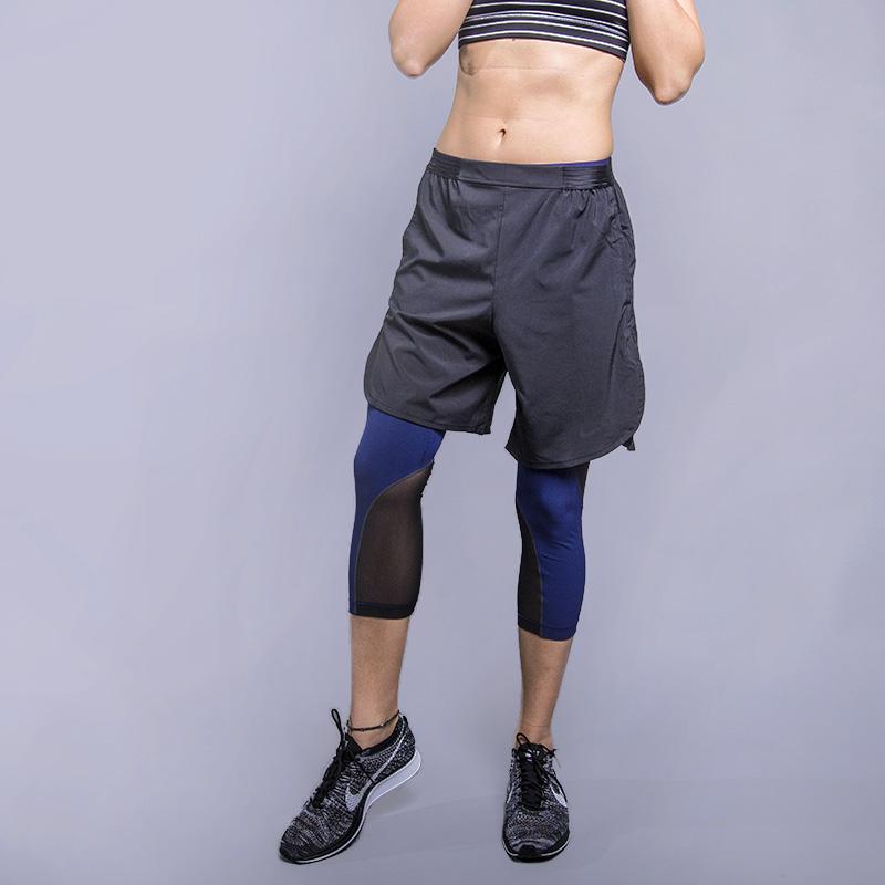Шорты Nike NK FLX Short BLISSШорты<br>88% полиэстер, 12% эластан<br><br>Цвет: Серый<br>Размеры US: XS;L<br>Пол: Женский