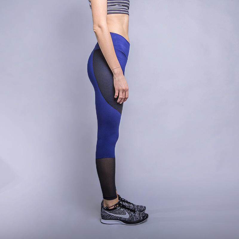 070836ac женские синие тайтсы для тренинга nike nk pwr lgndry tght mid 833718-429 -  цена