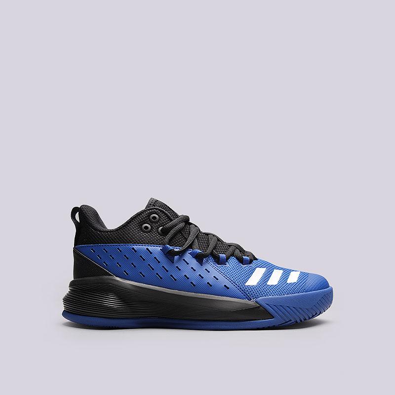 Кроссовки  adidas Street Jam 3Кроссовки баскетбольные<br>Текстиль, синтетика, резина<br><br>Цвет: Синий<br>Размеры UK: 8;13.5;14<br>Пол: Мужской