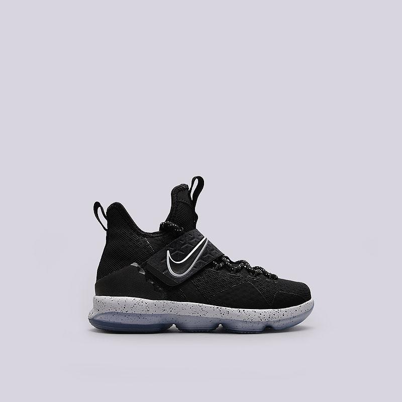 Кроссовки Nike Lebron XIV (GS)Обувь детская<br>Текстиль, пластик, резина<br><br>Цвет: Черный<br>Размеры US: 4.5Y<br>Пол: Детский
