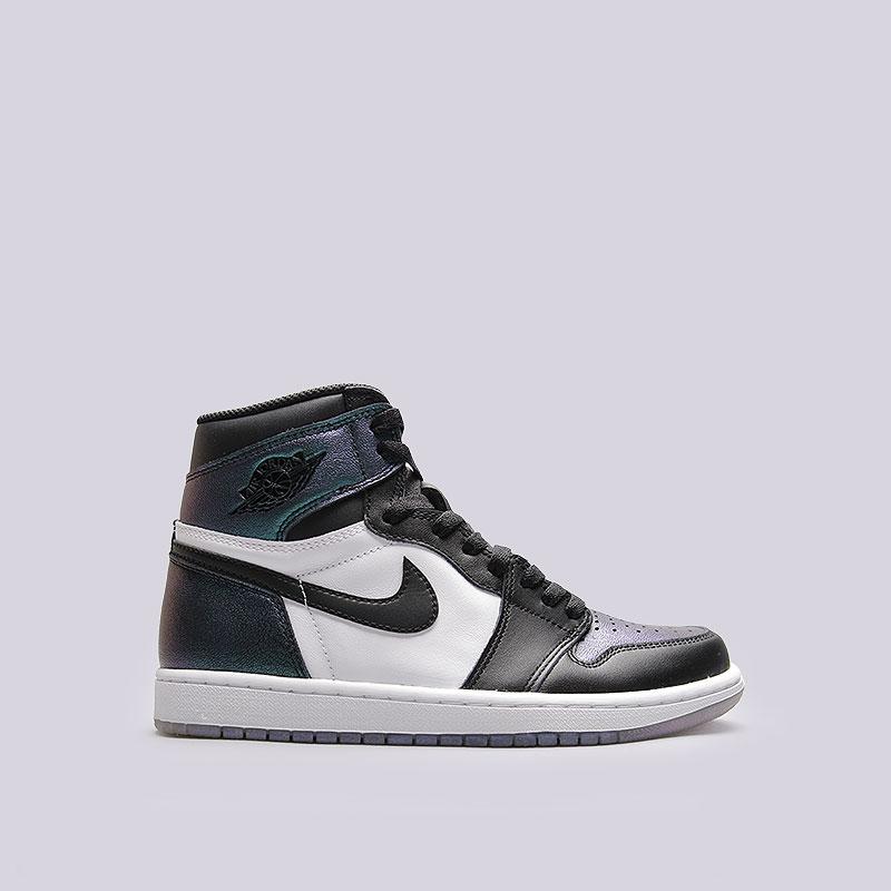 Кроссовки Jordan 1 Retro High OG ASКроссовки lifestyle<br>Кожа, синтетика, текстиль, резина<br><br>Цвет: Чёрный, белый<br>Размеры US: 8.5;9.5;10<br>Пол: Мужской