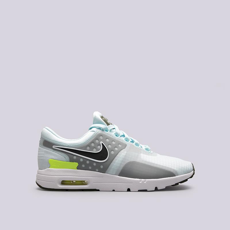 Кроссовки Nike WMNS Air Max Zero SIКроссовки lifestyle<br>пластик, текстиль,резина<br><br>Цвет: Голубой<br>Размеры US: 6.5<br>Пол: Женский