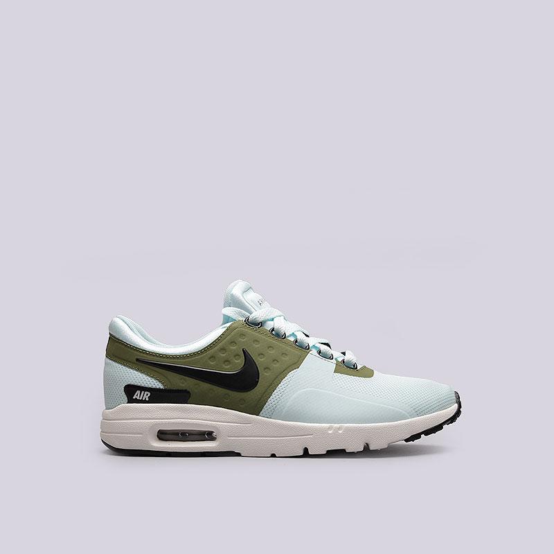 Кроссовки Nike WMNS Air Max ZeroКроссовки lifestyle<br>Текстиль, резина<br><br>Цвет: Голубой<br>Размеры US: 6;6.5;7.5;8;8.5<br>Пол: Женский