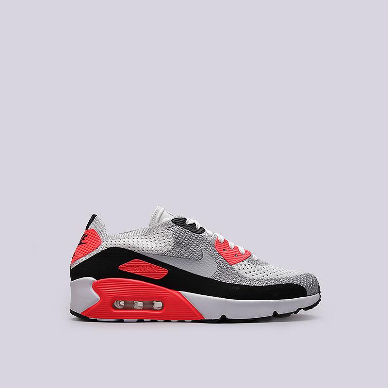 Кроссовки  Nike Sportswear Air Max 90 Ultra 2.0 FlyknitКроссовки lifestyle<br>Текстиль, резина<br><br>Цвет: Белый, серый, чёрный<br>Размеры US: 8.5;9;9.5;10;10.5;11;11.5<br>Пол: Мужской