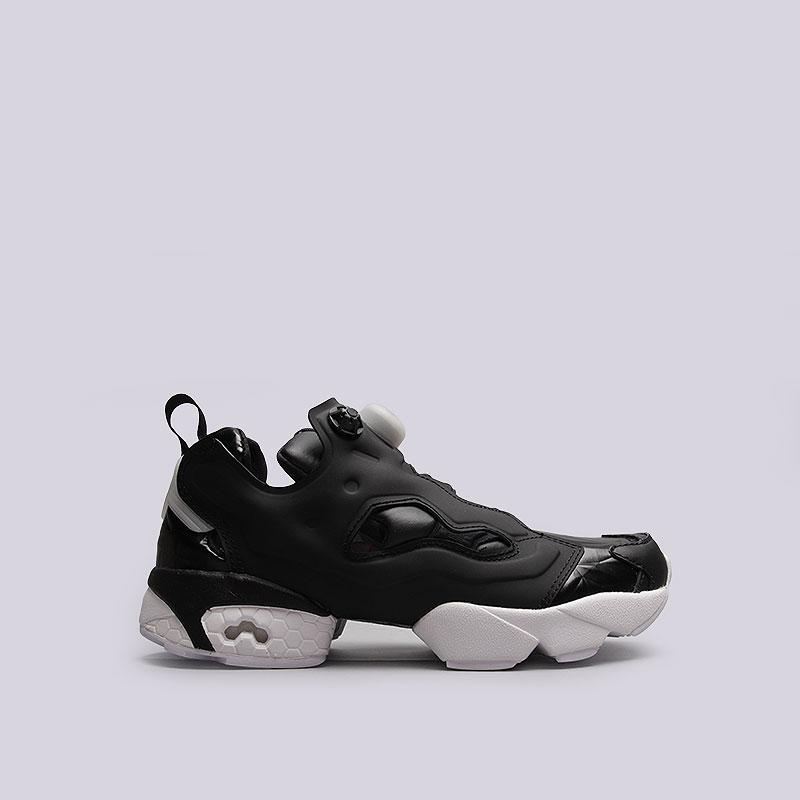 женские чёрные кроссовки reebok instapump fury hype met BD4890 - цена d4695551e084f