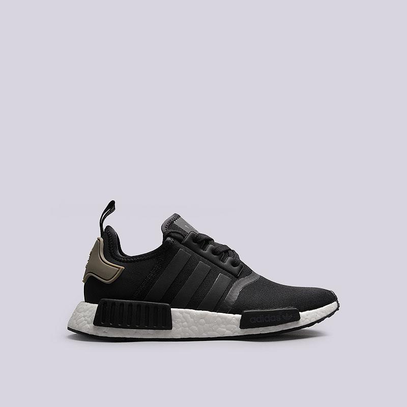 Кроссовки adidas Originals NMD_R1Кроссовки lifestyle<br>Текстиль, резина<br><br>Цвет: Чёрный, белый<br>Размеры UK: 7<br>Пол: Мужской