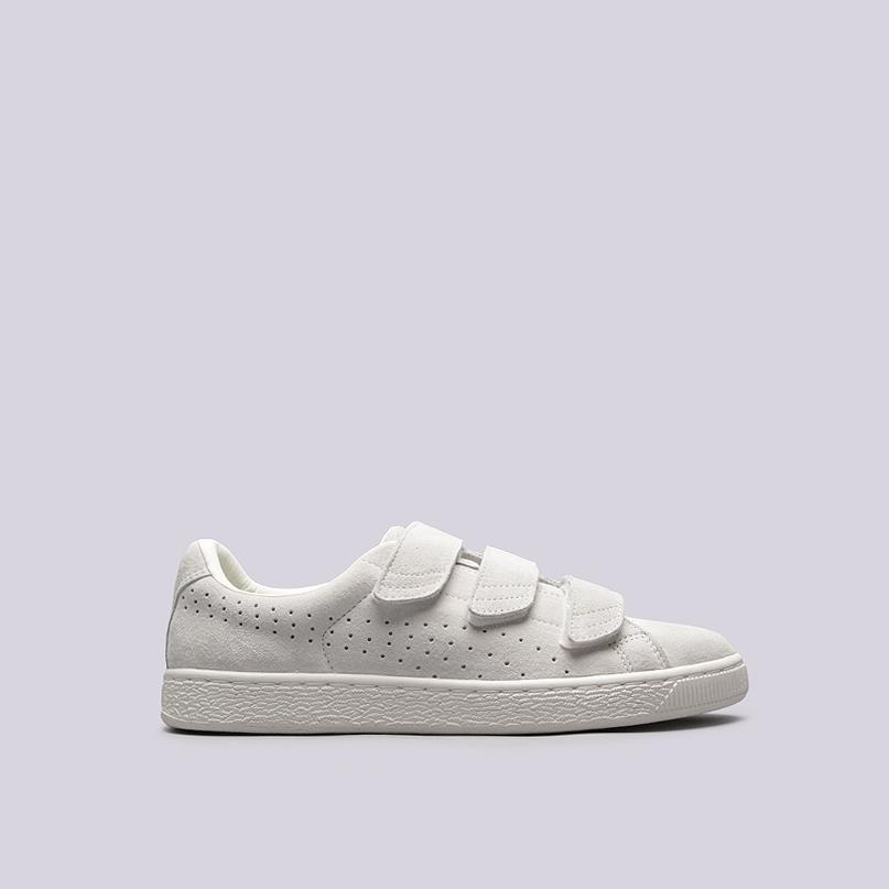 Кроссовки Puma Basket Strap Soft PremiumКроссовки lifestyle<br>кожа, текстиль, резина<br><br>Цвет: Белый<br>Размеры UK: 9<br>Пол: Мужской