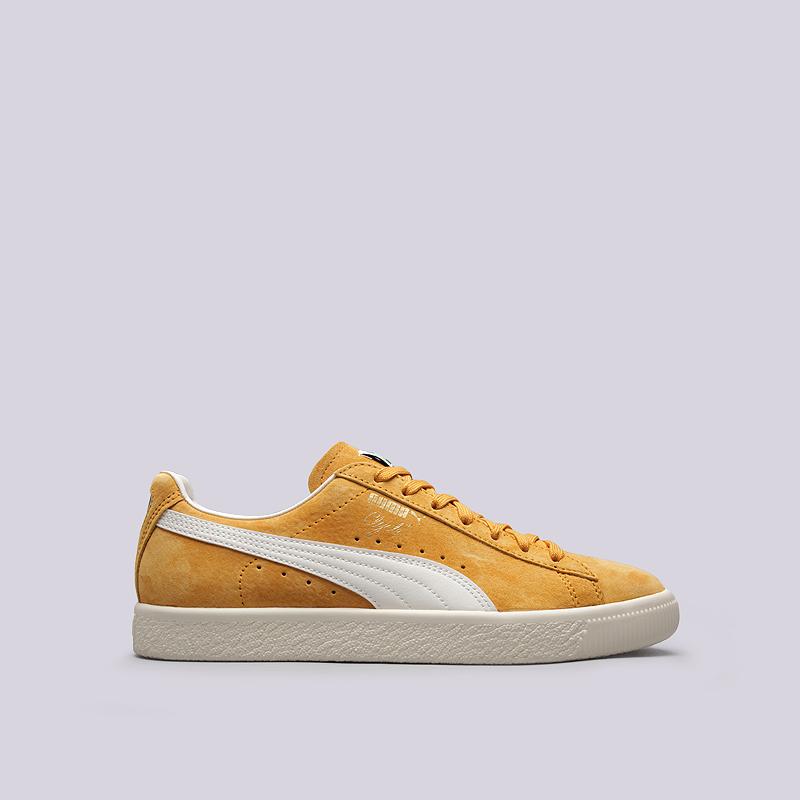 Кроссовки Puma Clyde Premium CoreКроссовки lifestyle<br>кожа, текстиль, резина<br><br>Цвет: Желтый<br>Размеры UK: 8;9;10.5<br>Пол: Мужской