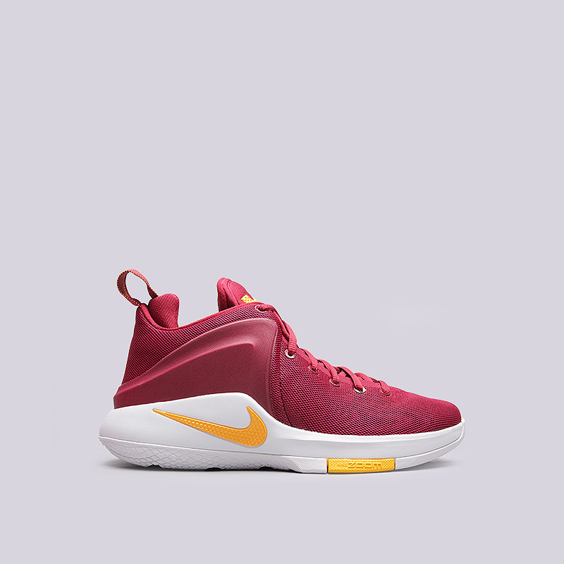 Кроссовки Nike Zoom WitnessКроссовки баскетбольные<br>Текстиль, синтетика, резина<br><br>Цвет: Бордовый<br>Размеры US: 8<br>Пол: Мужской
