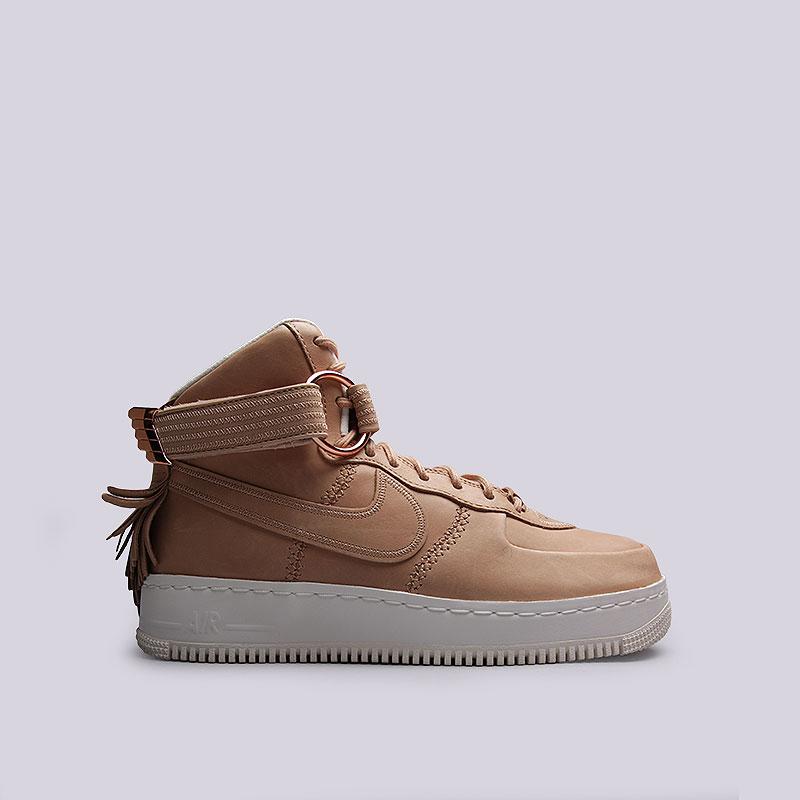 Кроссовки Nike Air Force 1 High SLКроссовки lifestyle<br>Кожа, текстиль, резина<br><br>Цвет: Кремовый<br>Размеры US: 10<br>Пол: Мужской