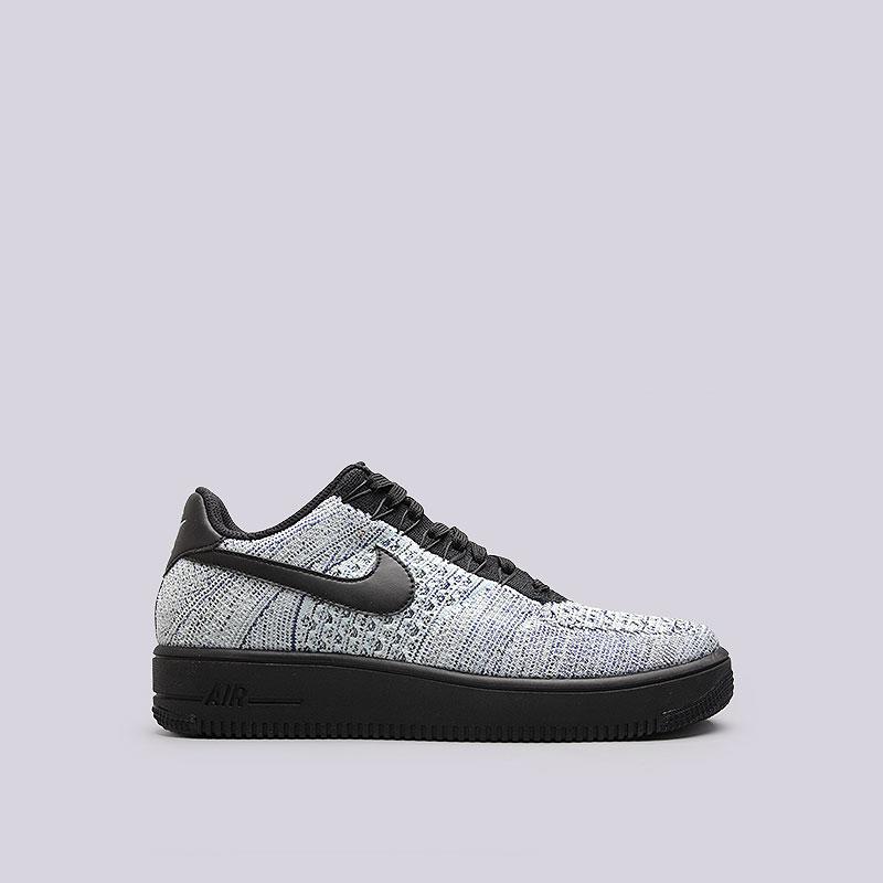 Кроссовки  Nike Sportswear Air Force Ultra Flyknit LowКроссовки lifestyle<br>Текстиль, синтетическая кожа, резина<br><br>Цвет: Светло-голубой, чёрный<br>Размеры US: 8;8.5;9;9.5;10;10.5;11;11.5;12;12.5;13<br>Пол: Мужской