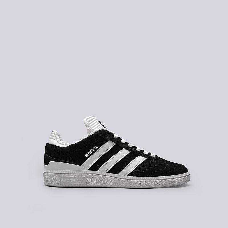 Кроссовки  adidas Originals BusenitzКроссовки lifestyle<br>Кожа, текстиль, резина<br><br>Цвет: Чёрный, белый<br>Размеры UK: 7.5;8;8.5;9;9.5;10;10.5;11<br>Пол: Мужской