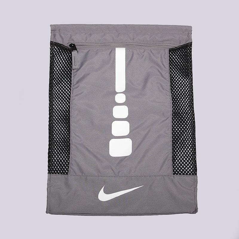 Мешок Nike Hoops Elite GymsackСумки, рюкзаки<br>Нейлон<br><br>Цвет: Серый<br>Размеры US: OS