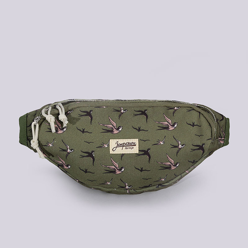 Сумка на пояс Запорожец heritage Canvas WaistСумки, рюкзаки<br>80% хлопок, 20% полиэстер<br><br>Цвет: Зеленый<br>Размеры : OS