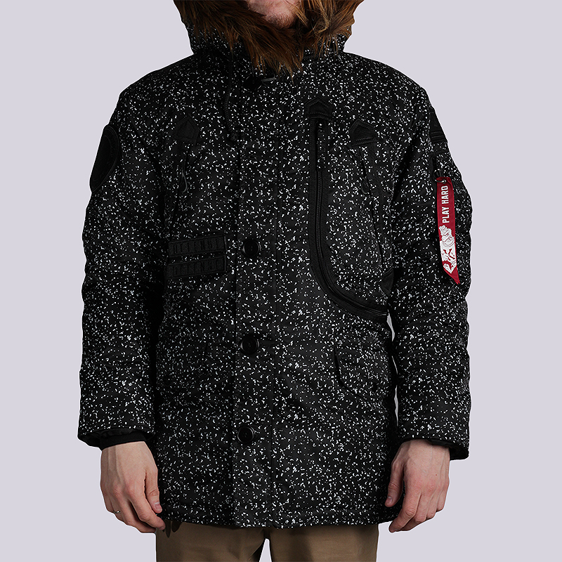 Куртка K1X x Alpha Polar JacketКуртки, пуховики<br>50% нейлон, 50% полиэстер<br><br>Цвет: Черный<br>Размеры US: XL<br>Пол: Мужской